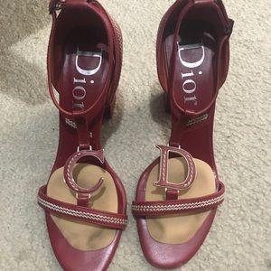 Christian Dior vintage logo heels